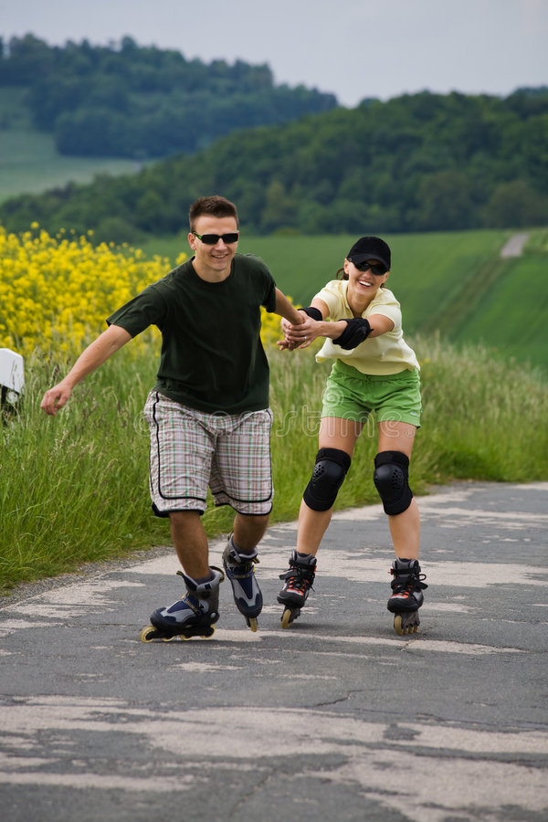 Download Rollerblades for two 2 stock photo. Image of inline, human - 5697716
