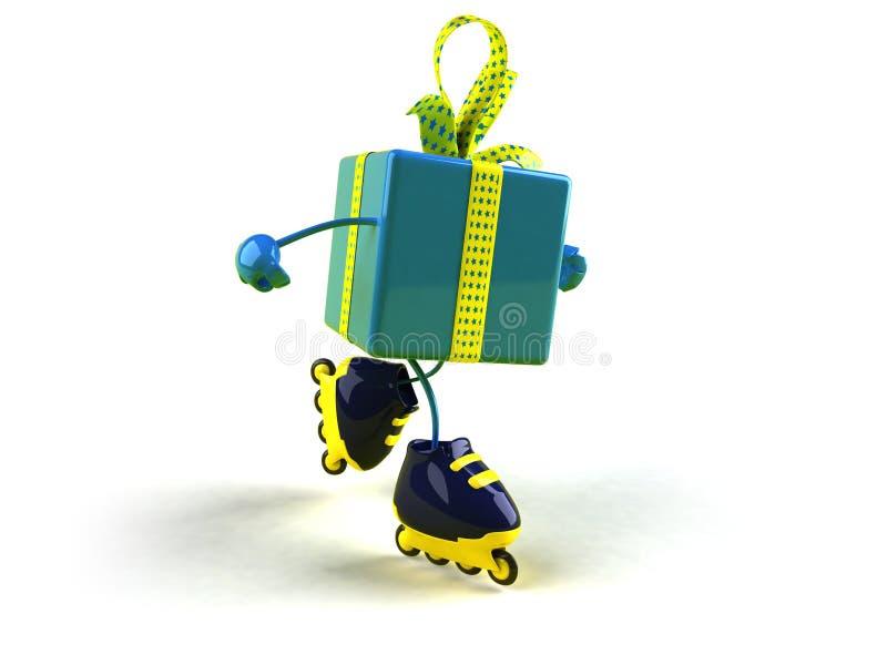 rollerblading的礼品 库存例证