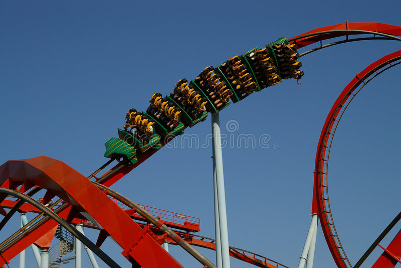 Download The rollercoaster stock photo. Image of entertainment - 1043050