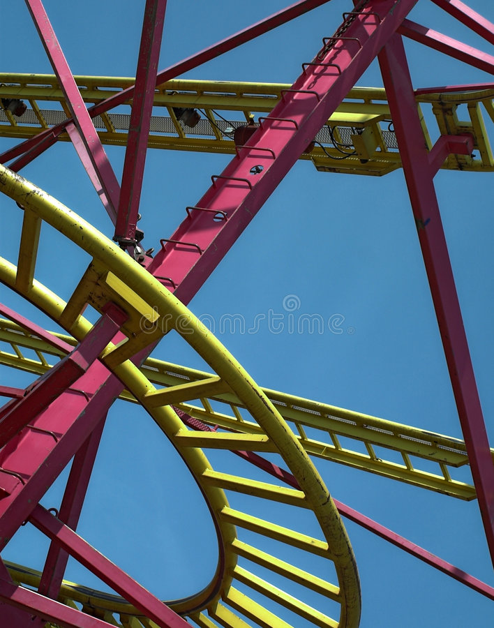 Rollercoaster stock image