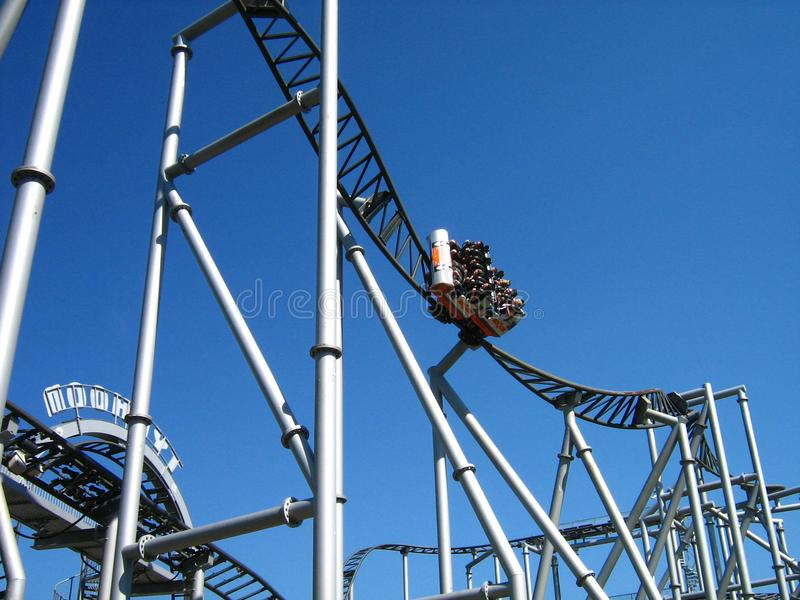 Download Rollercoaster stock image. Image of wheel, thrill, merry - 6011705