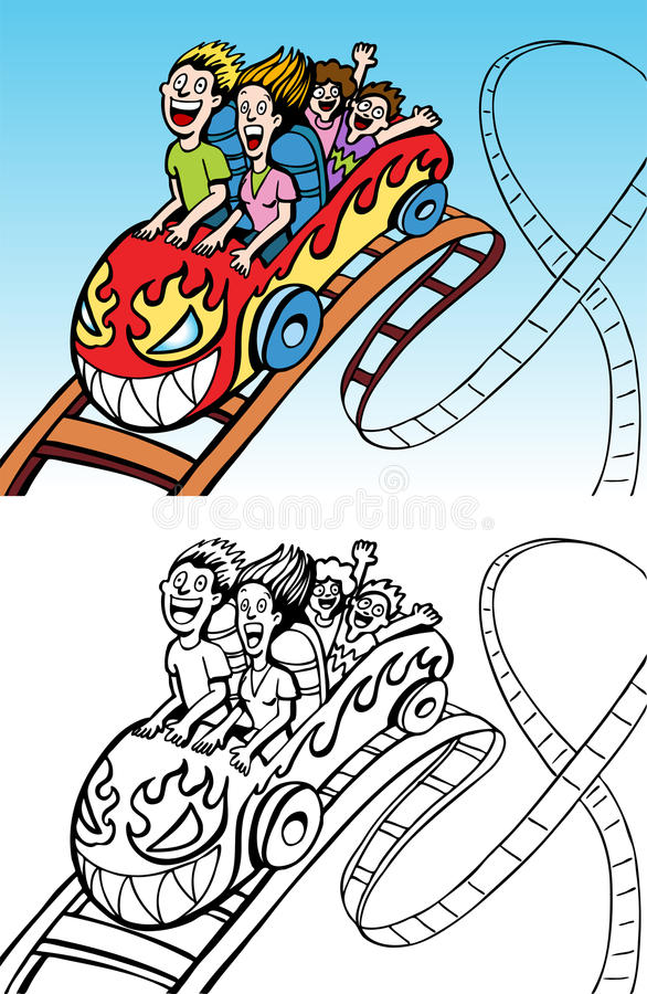 Download Rollercoaster Ride stock vector. Illustration of children - 11106209
