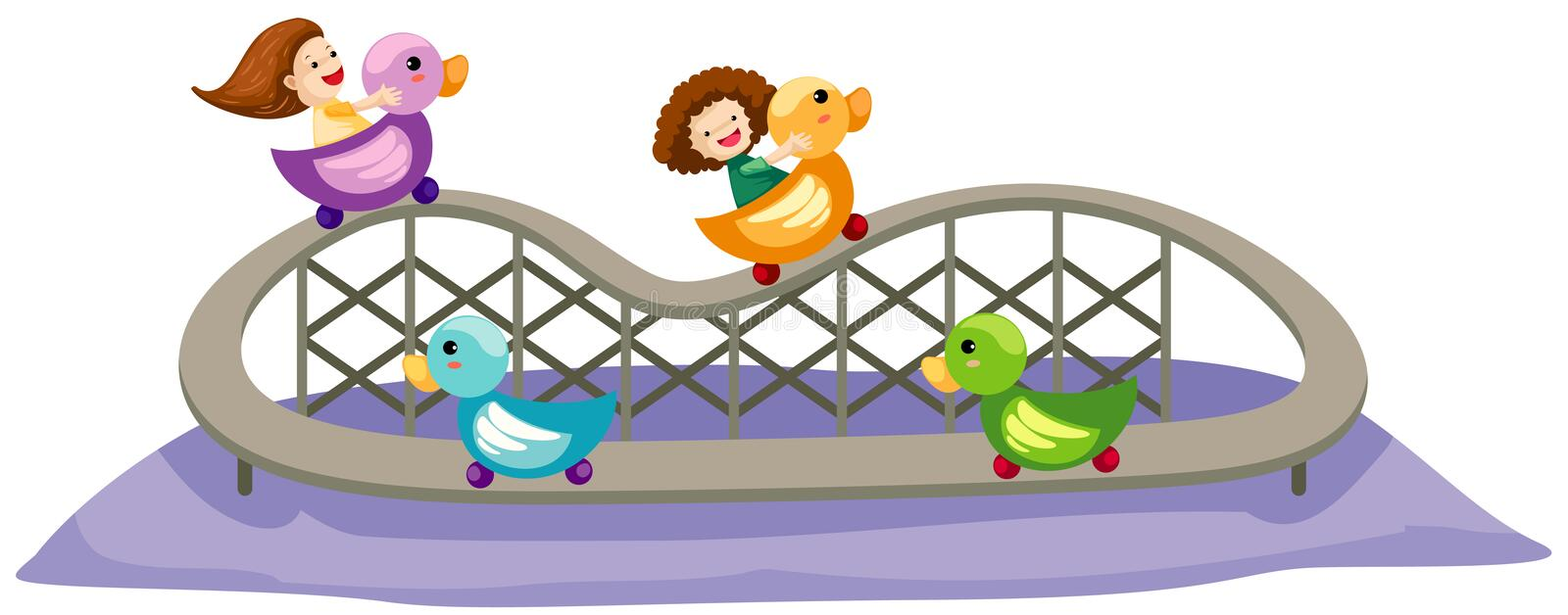 Download Rollercoaster Ride stock vector. Illustration of detail - 16550268