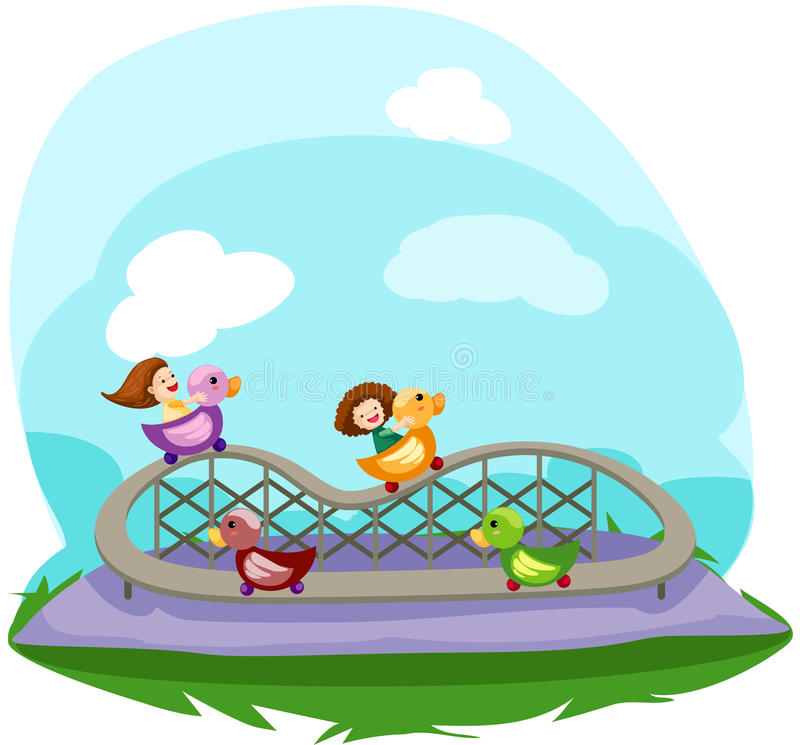 Download Rollercoaster ride stock vector. Image of coaster, cute - 16756525