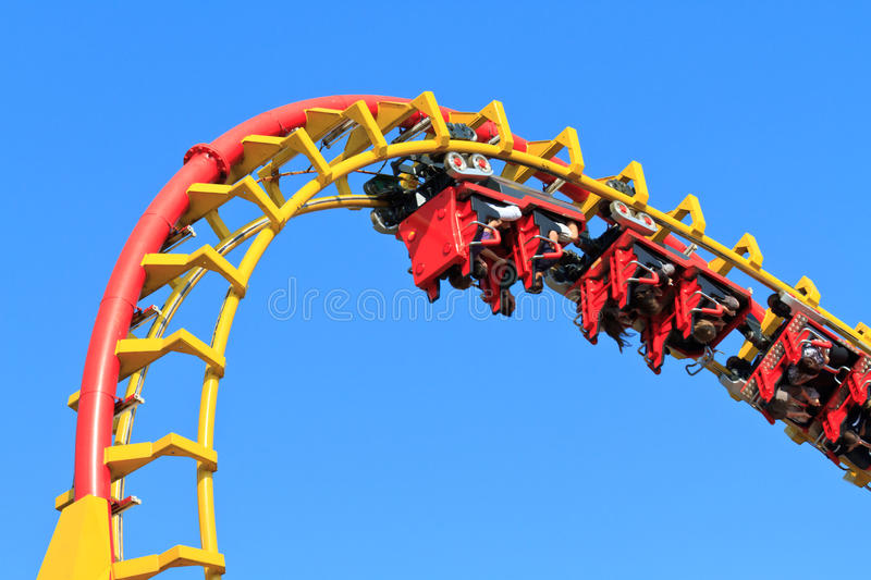 Rollercoaster Ride stock images