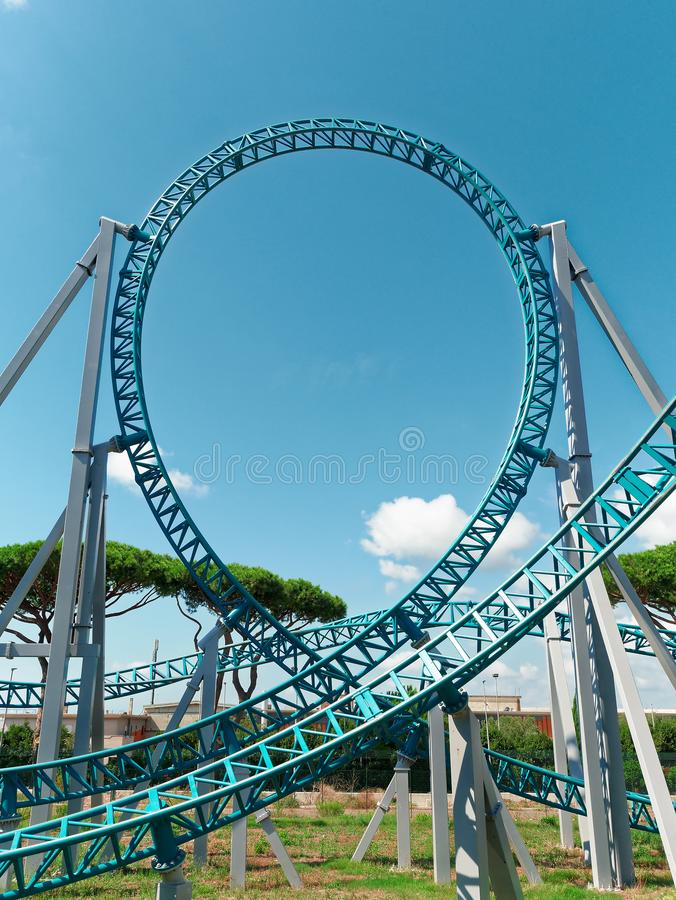 Rollercoaster roller coaster loop track stock photos