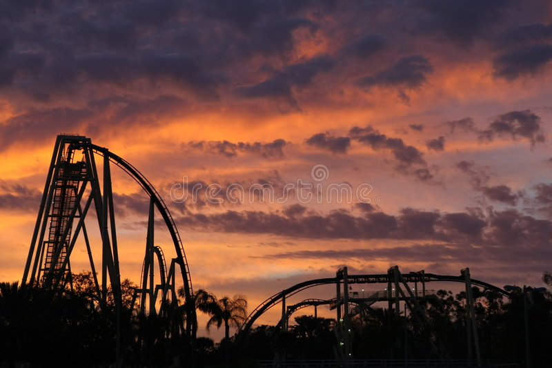 Download Rollercoaster Sunset stock image. Image of speed, curves - 8173631