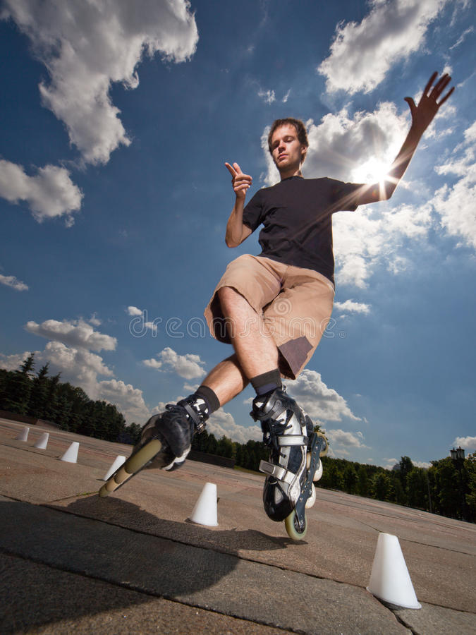 Free Rollerskater Royalty Free Stock Photo - 10135685