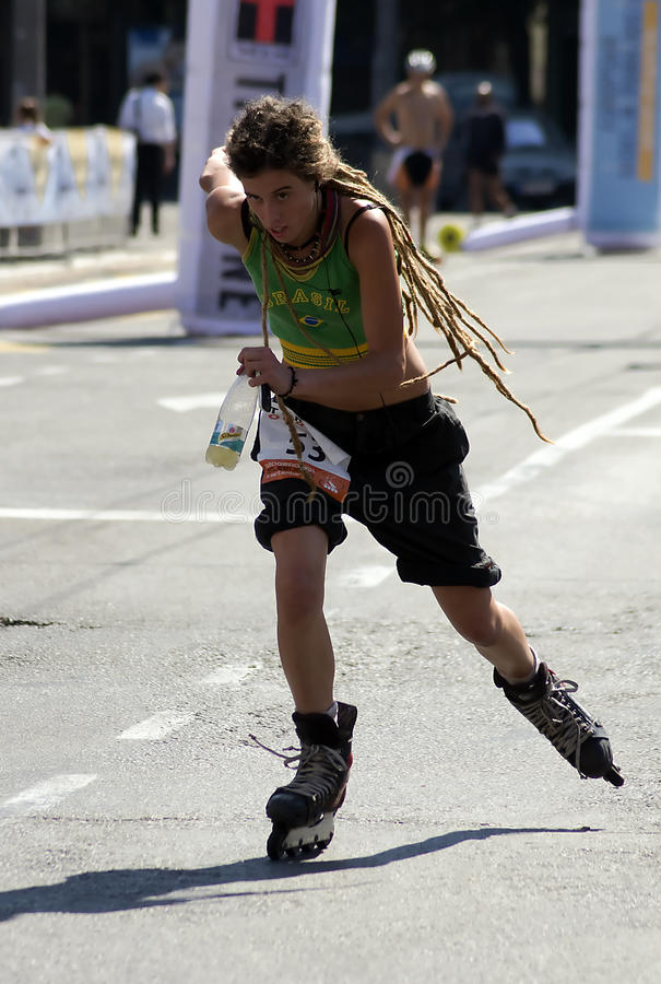 Download Rollerskates Race-3 editorial stock photo. Image of girl - 21450628