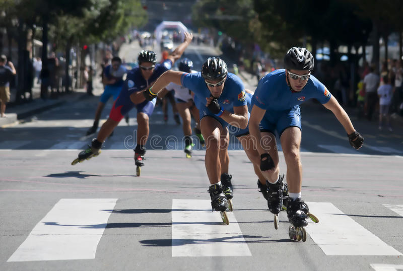 Rollerskates Race-23 Photo éditorial