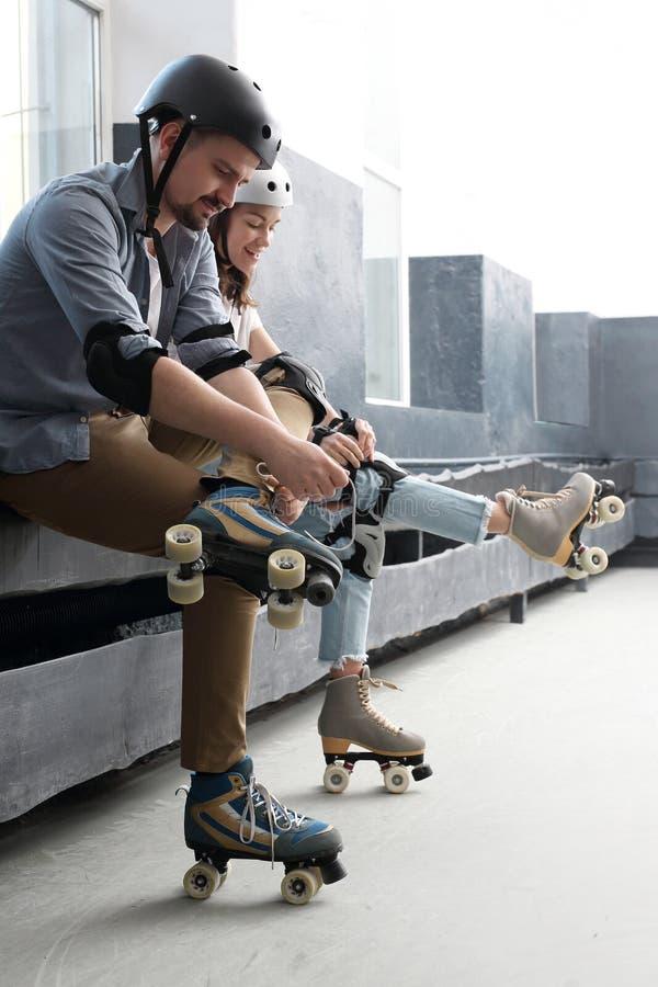 rollerskating fotografia stock