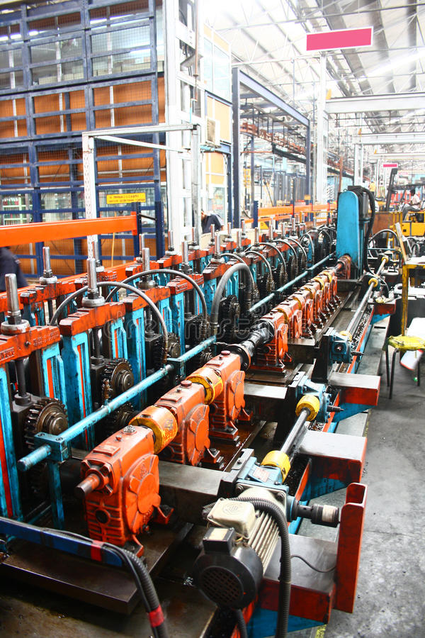 Rollforming Machine for Commercial Manufacturing royalty free stock photography