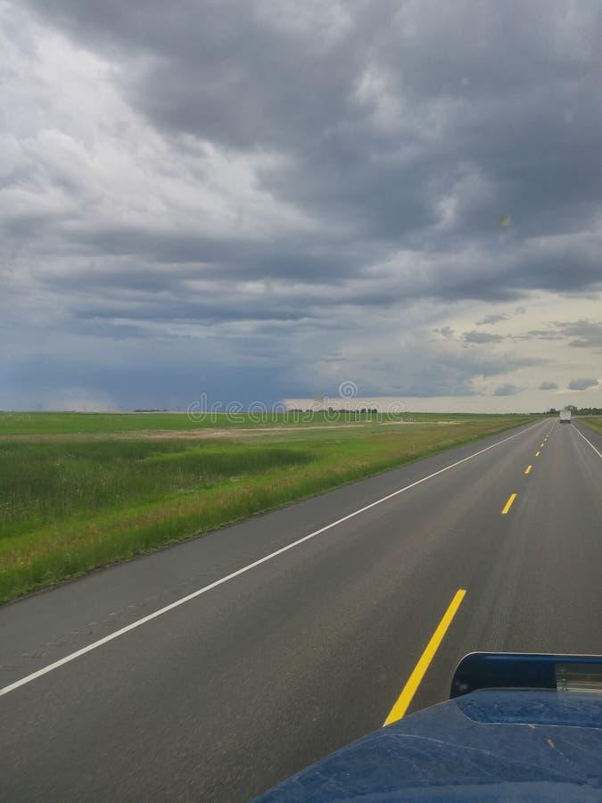 Rollin à travers les prairies image libre de droits