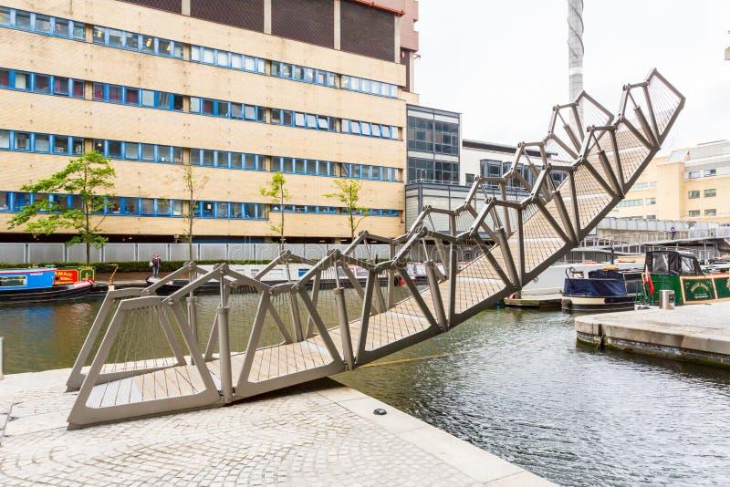 The Rolling Bridge stock photography