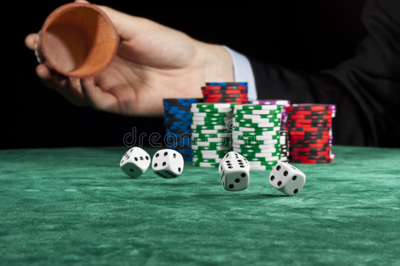 Rolling The Dice Royalty Free Stock Image