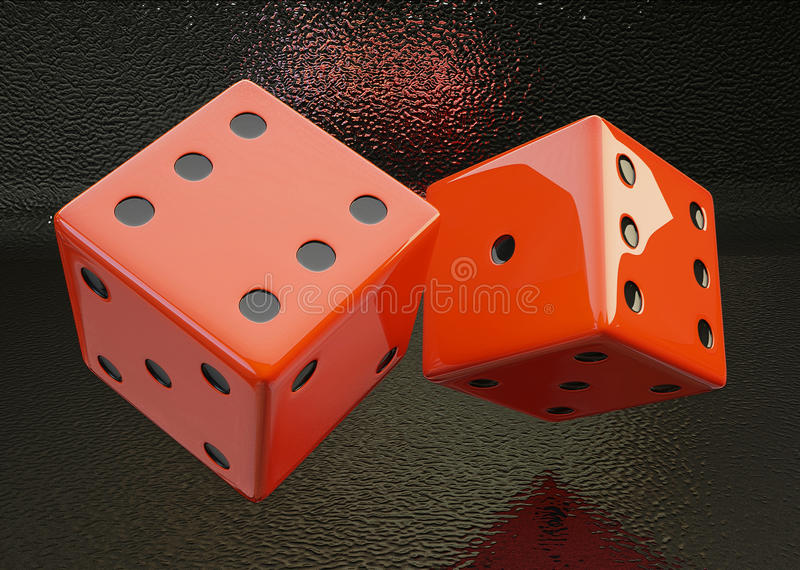 Rolling Dice Stock Photos