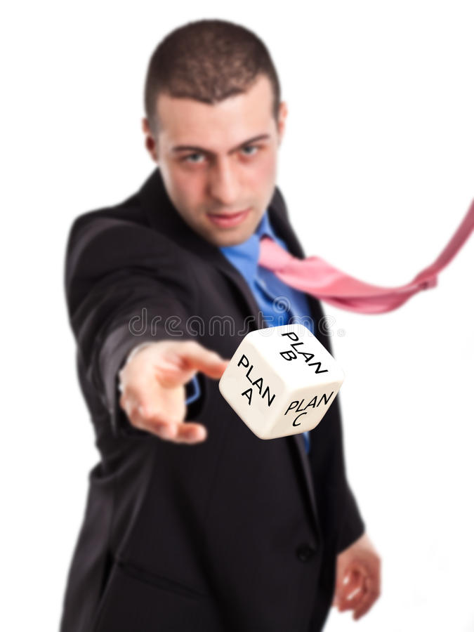 Rolling A Dice Royalty Free Stock Images