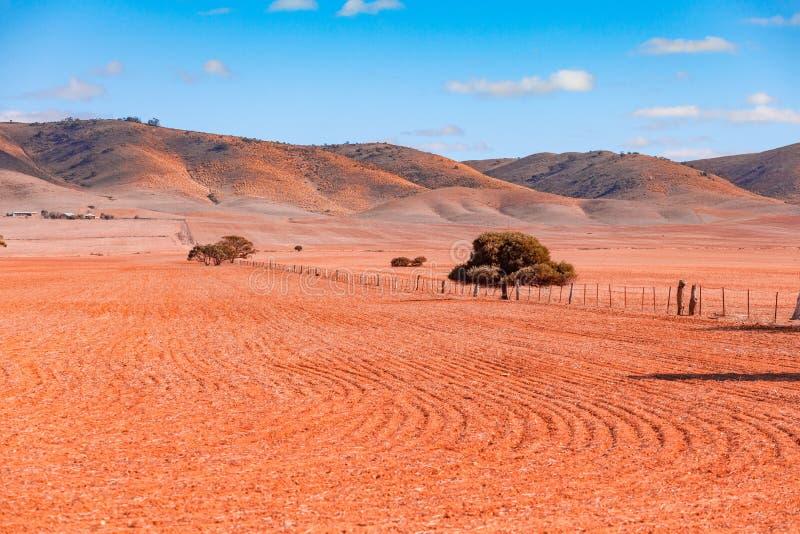 Rolling Hills и вспаханное поле стоковое изображение rf
