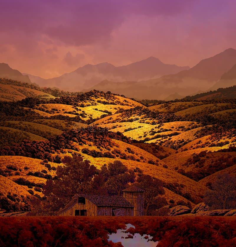 Download Rolling Hills ilustração stock. Ilustração de país, montes - 535227