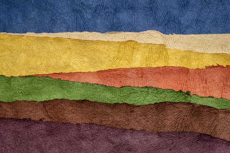 Rolling hills abstract landscape - colorful textured paper sheets royalty free stock images