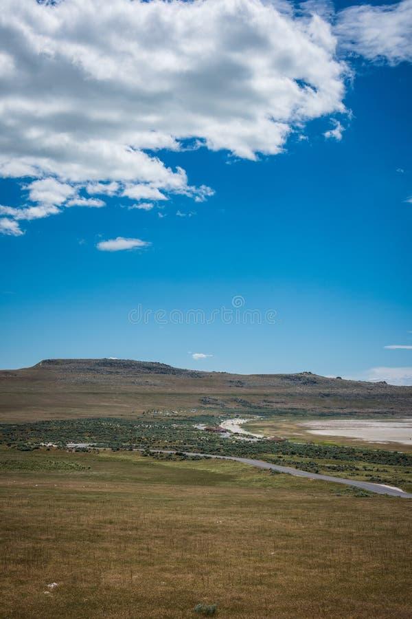 Rolling Hills de parc d'état d'île d'antilope à Salt Lake City Utah photographie stock