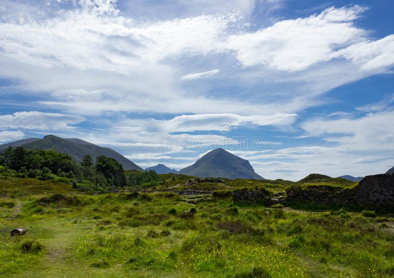 The Rolling hills of the Red Cuillin Mountains royalty free stock photos