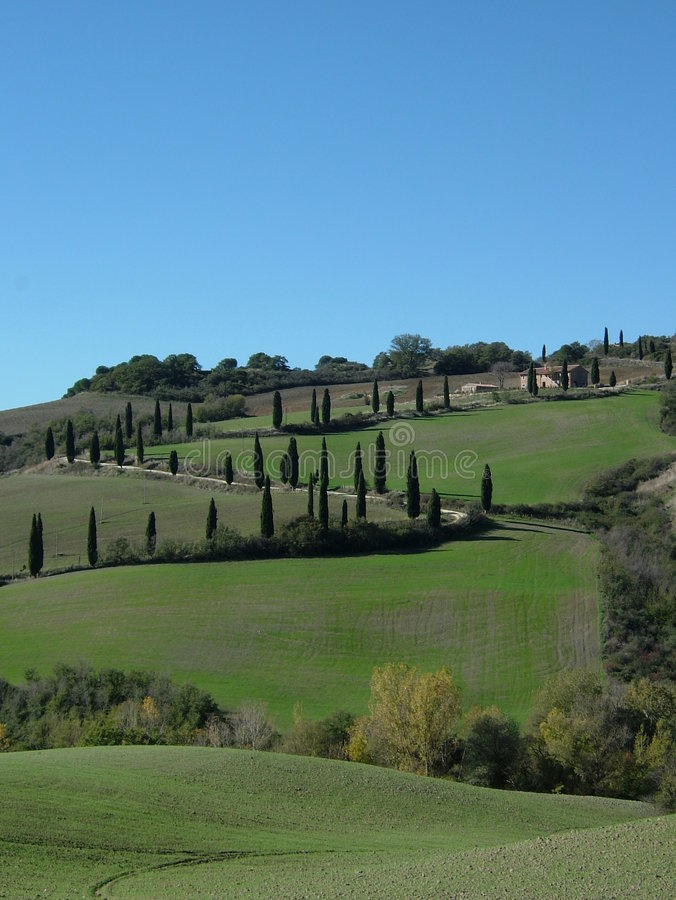 Rolling Hills Of Tuscany Italy. Stock Image