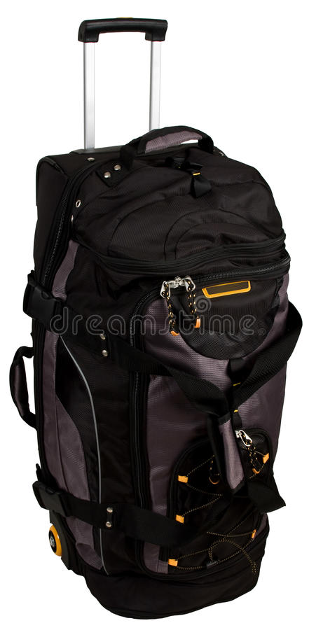 Rolling Luggage Duffle Bag. With Pull Handle royalty free stock image