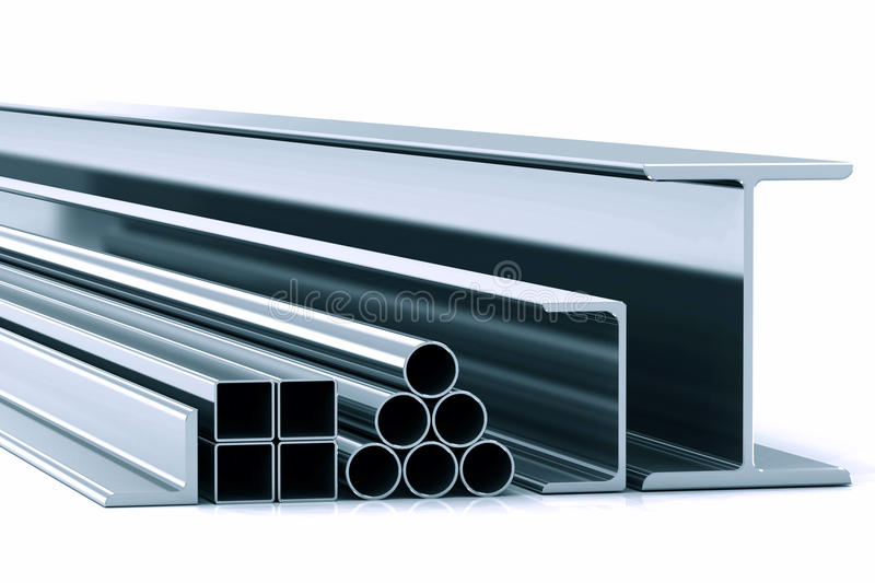 Rolling metall stock photo