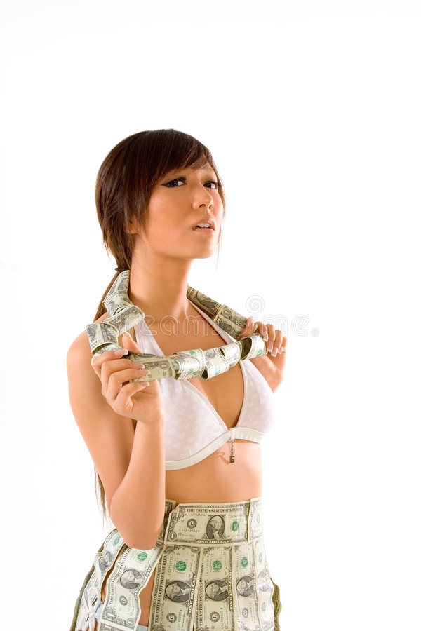 Download Rolling in money stock image. Image of brunet, bail, currency - 3375809