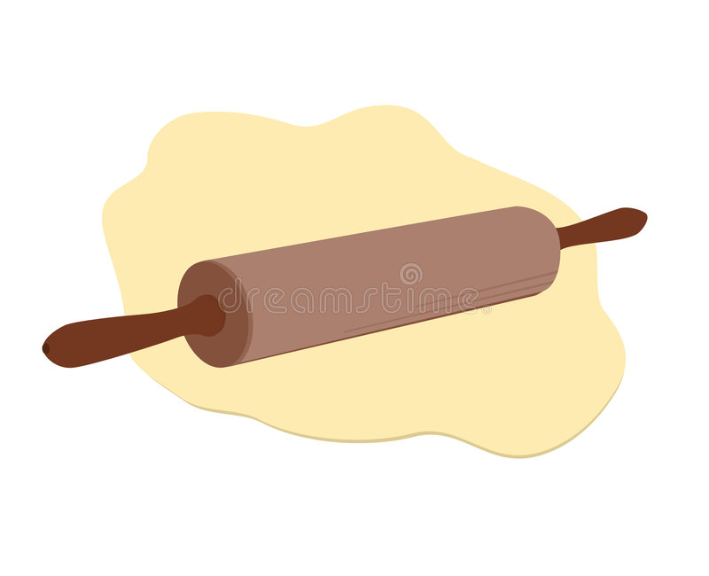 Rolling pin stock illustration