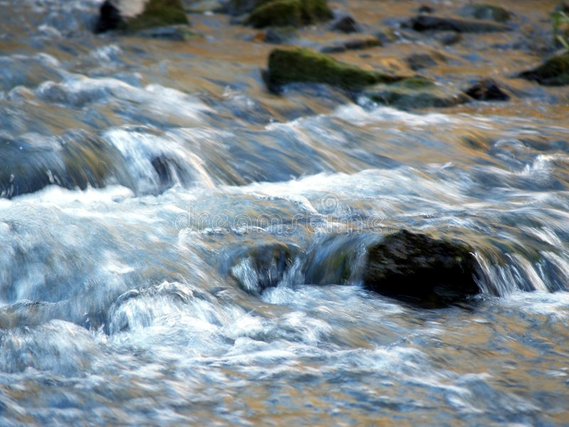 Rolling rivier stock afbeelding