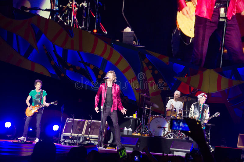 The Rolling Stones in Cuba royalty-vrije stock foto's