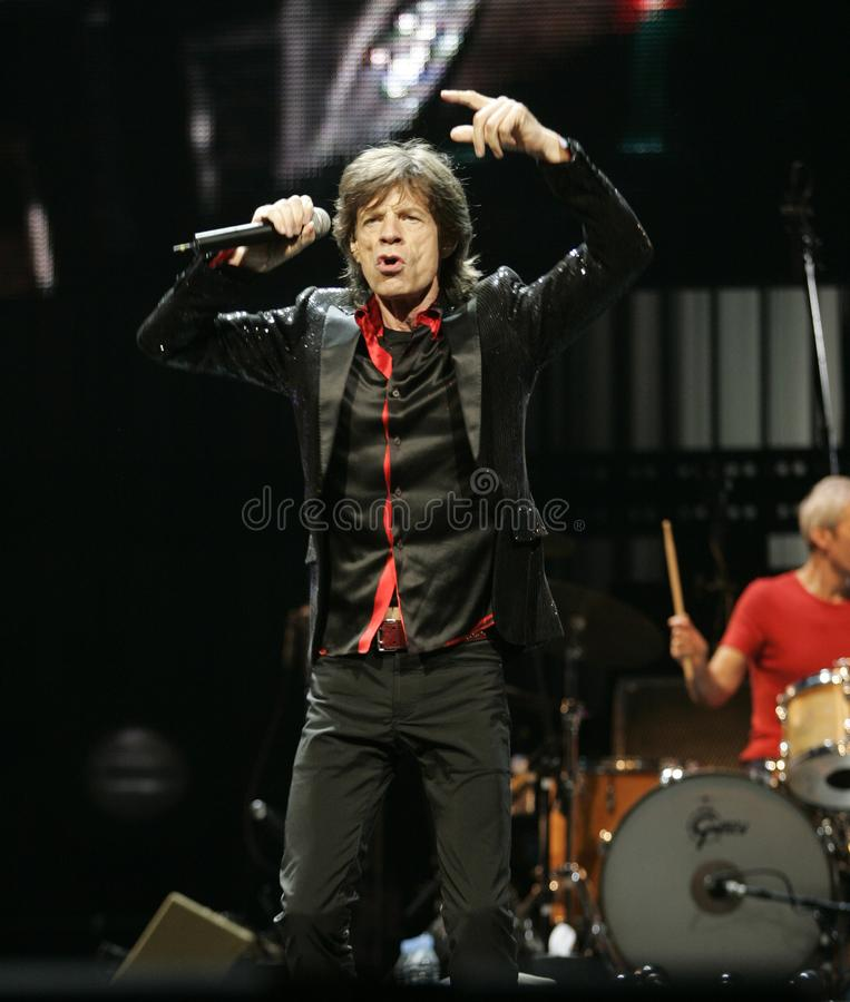 The Rolling Stones esegue di concerto fotografie stock