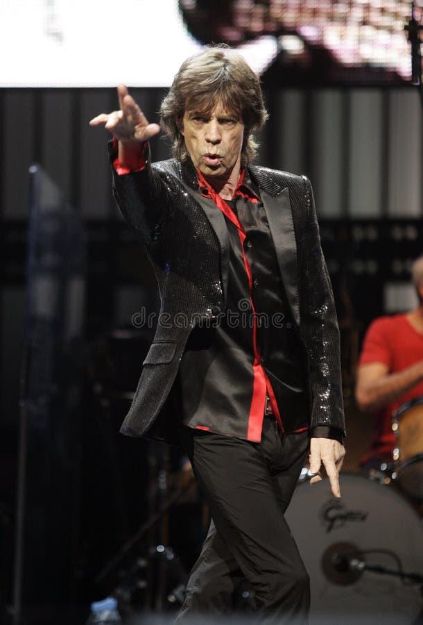 The Rolling Stones führen im Konzert durch lizenzfreie stockbilder