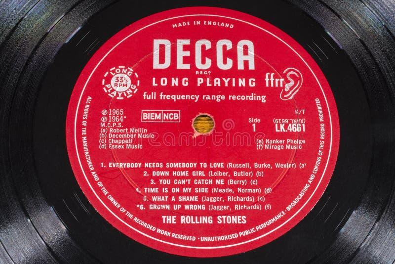 Rolling Stones LP Winylowy rejestr obraz stock
