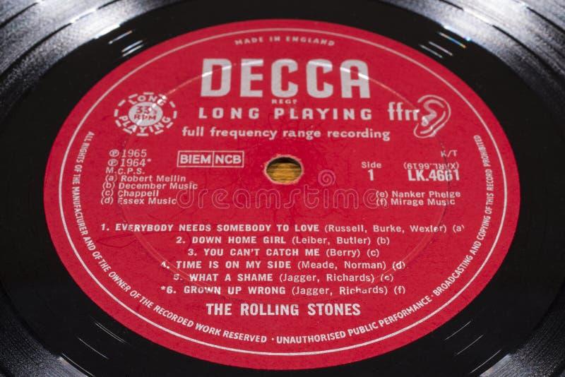 Rolling Stones Vinyl Record stock image