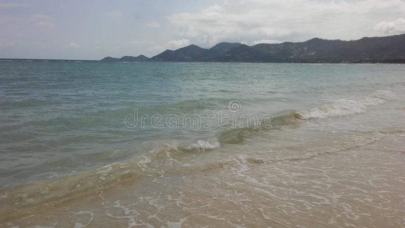Rolling Waves at Chaweng Beach on Koh Samui Island, Thailand. Rolling Waves at Chaweng Beach on Koh Samui Island in Thailand stock photos