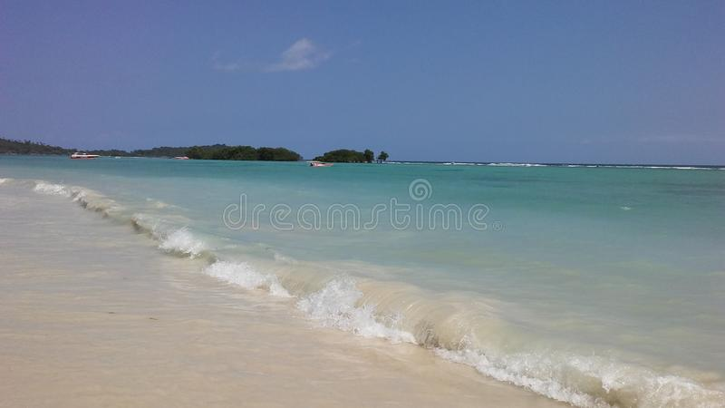 Rolling Waves at Chaweng Beach on Koh Samui Island, Thailand. Rolling Waves at Chaweng Beach on Koh Samui Island in Thailand royalty free stock image