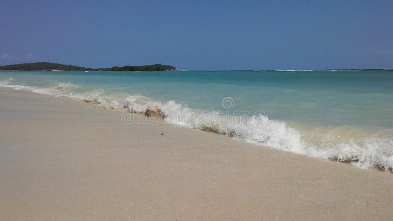 Rolling Waves at Chaweng Beach on Koh Samui Island, Thailand. Rolling Waves at Chaweng Beach on Koh Samui Island in Thailand royalty free stock photo