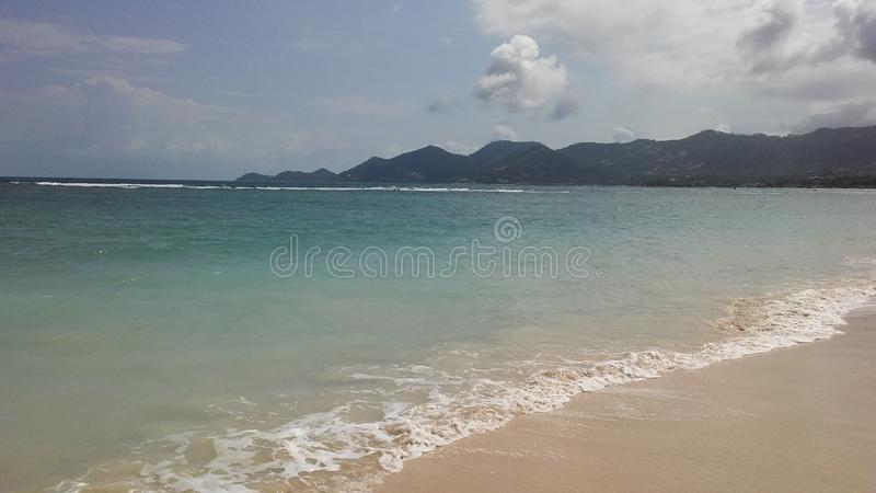 Rolling Waves at Chaweng Beach on Koh Samui Island, Thailand. Rolling Waves at Chaweng Beach on Koh Samui Island in Thailand royalty free stock photography