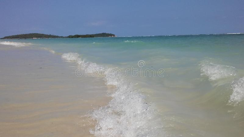 Rolling Waves at Chaweng Beach on Koh Samui Island, Thailand. Rolling Waves at Chaweng Beach on Koh Samui Island in Thailand royalty free stock photos