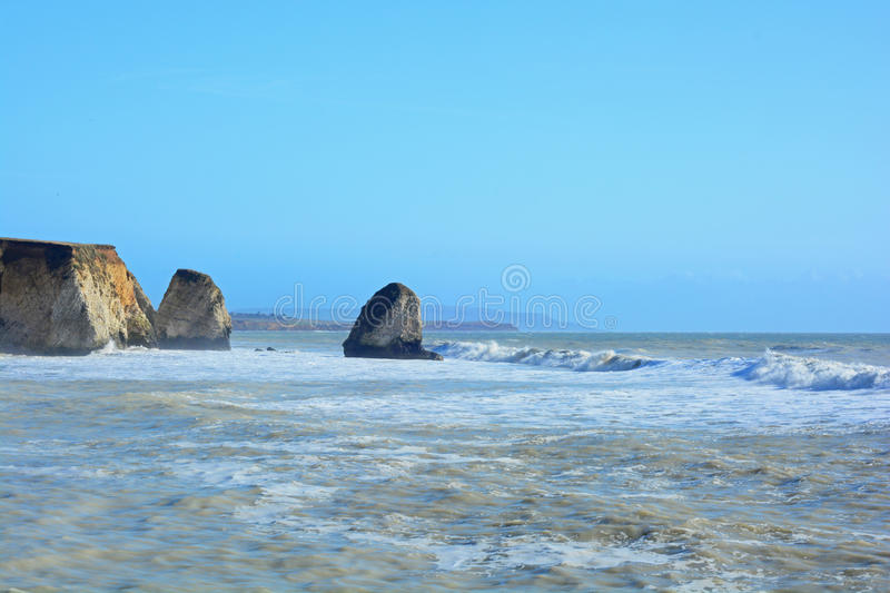 Rolling waves. A photo of rolling waves at sea royalty free stock image