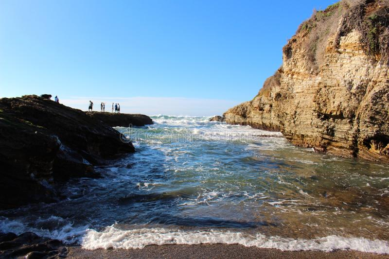 Rolling Waves. Between rock formations stock photography