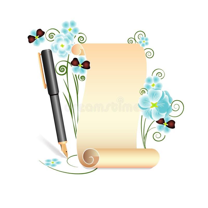 Rollo amarillo del documento fotografía de archivo libre de regalías