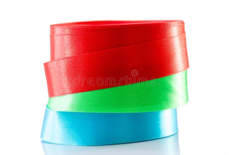 Download Rollo Azulverde Rojo De La Cinta Aislado Foto de archivo - Imagen de verde, artículo: 64207280