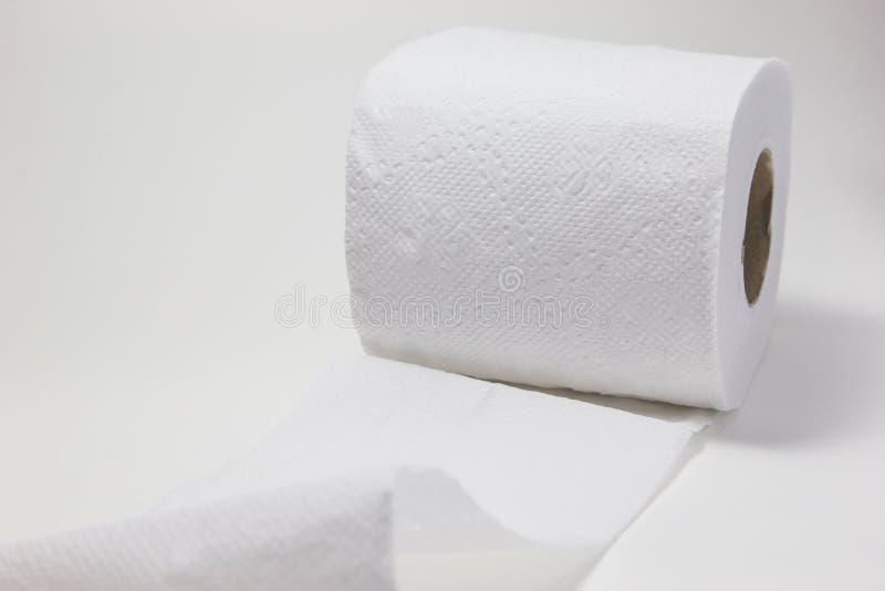 Rollo blanco del papel seda fotos de archivo libres de regalías
