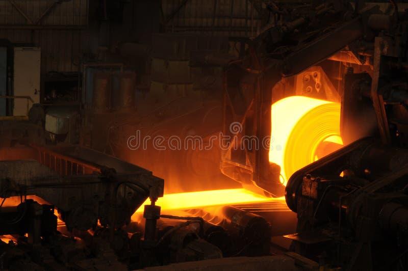 Rollo de acero caliente imagen de archivo libre de regalías