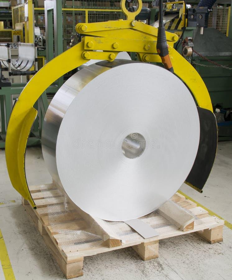 Rollo de aluminio para imagen de archivo libre de regalías