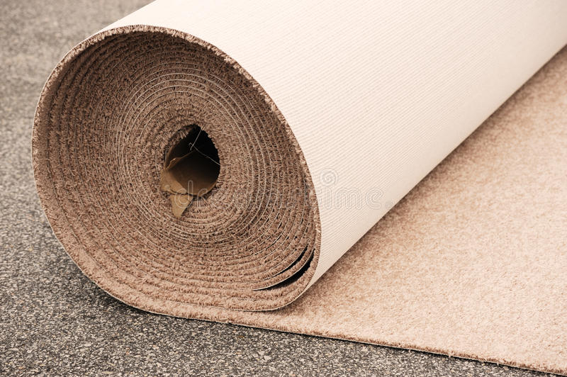 Rollo de la alfombra fotografía de archivo